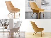 Eugene Lounge Chair 3d model