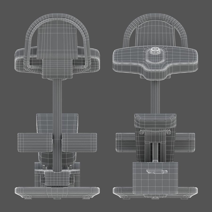 Stretch Machine 002 - wyposażenie siłowni royalty-free 3d model - Preview no. 15