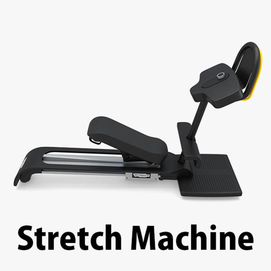 Stretch Machine 002 - wyposażenie siłowni royalty-free 3d model - Preview no. 1