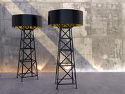 Lámpara de construcción modelo 3d