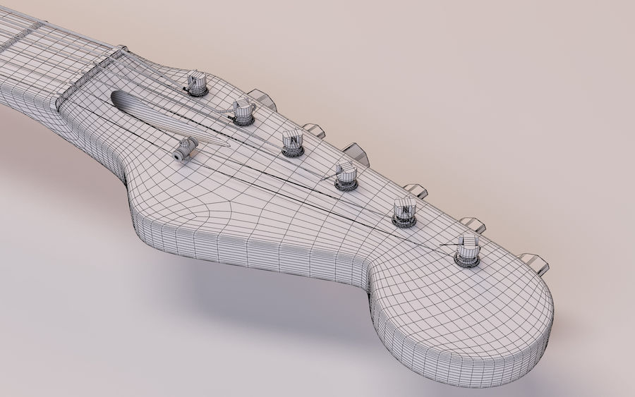 Fender Stratocaster royalty-free 3d model - Preview no. 8