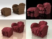 Stripe and Red Beaver 3d model