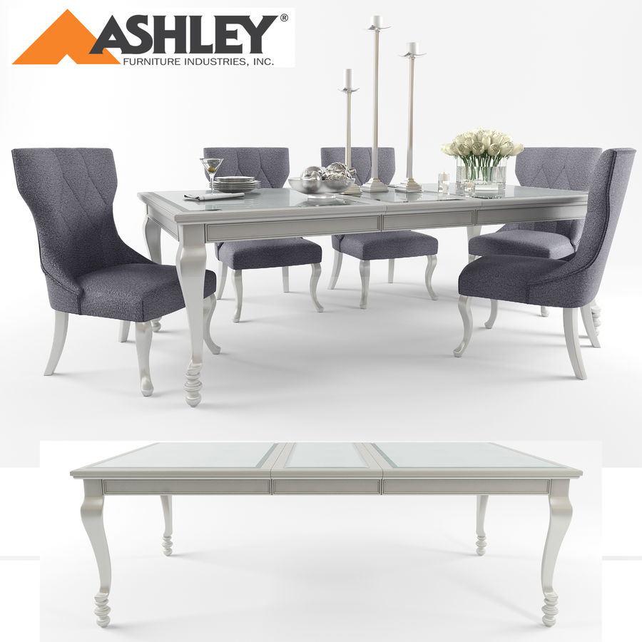 Ashley meubels tafel en stoel royalty-free 3d model - Preview no. 1