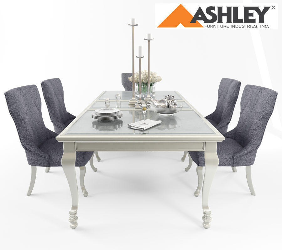Ashley meubels tafel en stoel royalty-free 3d model - Preview no. 2