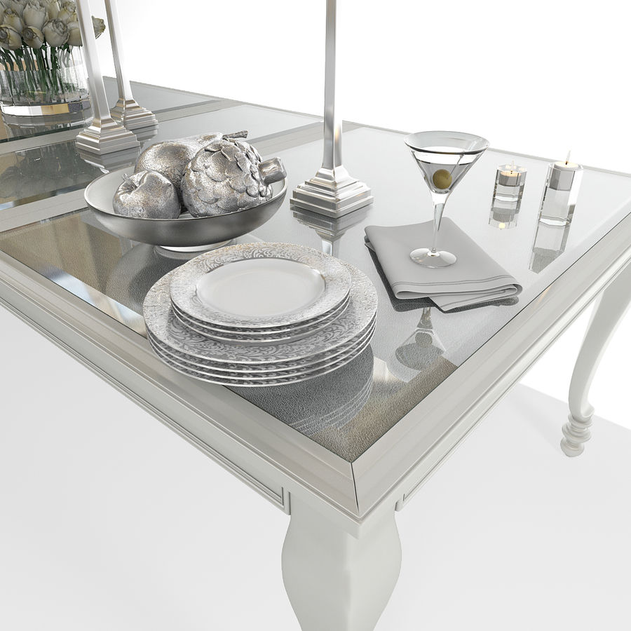 Ashley meubels tafel en stoel royalty-free 3d model - Preview no. 5