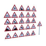 Paquete de advertencia de tráfico alemán / señal de tráfico modelo 3d