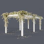 Pérgola con flores modelo 3d