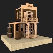 Western building 3d model