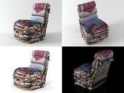 餐椅 3d model