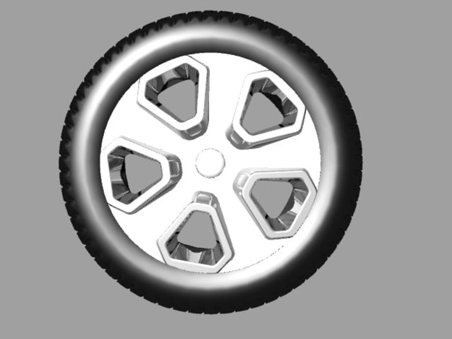 Police Car Wheel 1 royalty-free 3d model - Preview no. 1