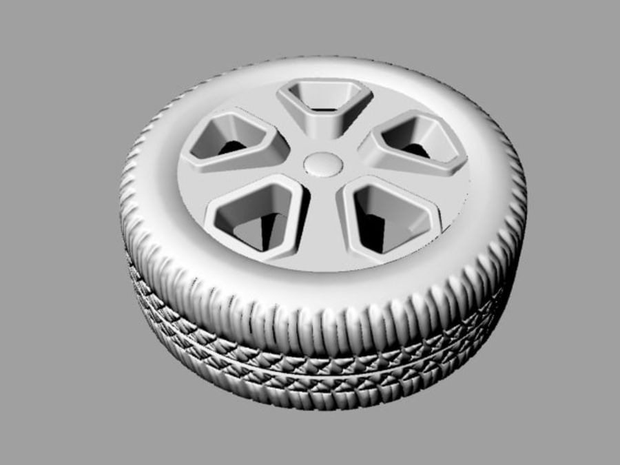 Police Car Wheel 1 royalty-free 3d model - Preview no. 6