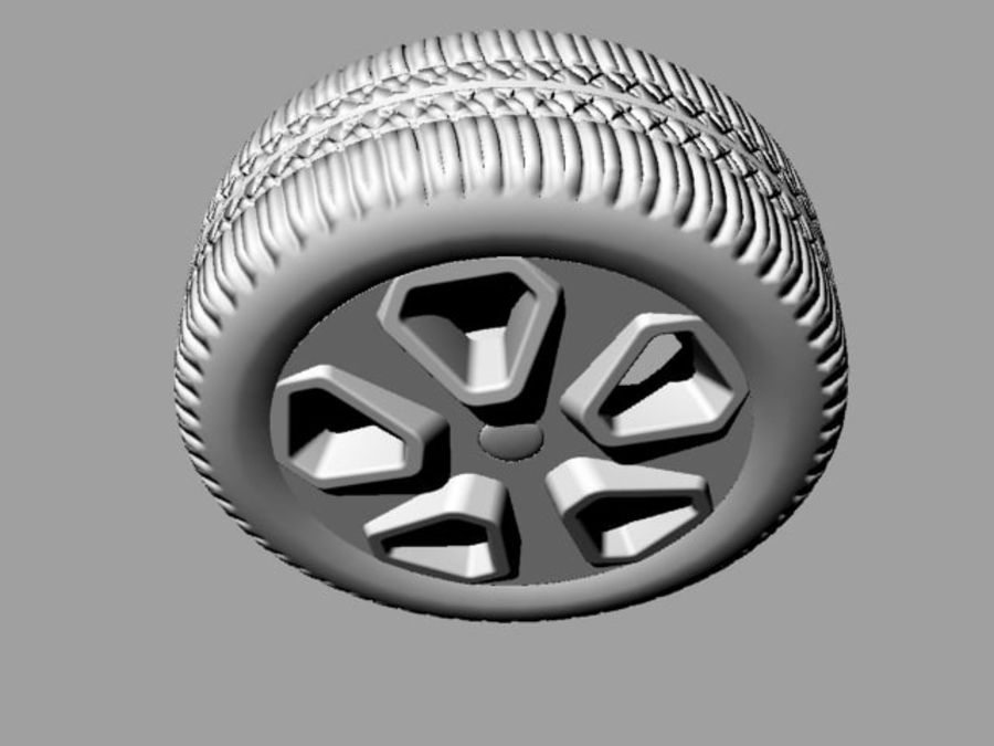 Police Car Wheel 1 royalty-free 3d model - Preview no. 7