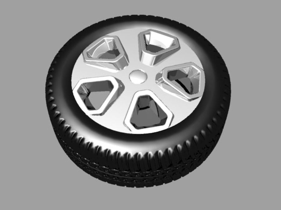 Police Car Wheel 1 royalty-free 3d model - Preview no. 2