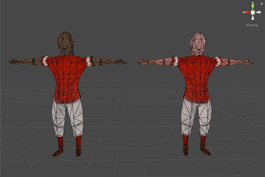 Pack de baseball Low Poly royalty-free 3d model - Preview no. 12