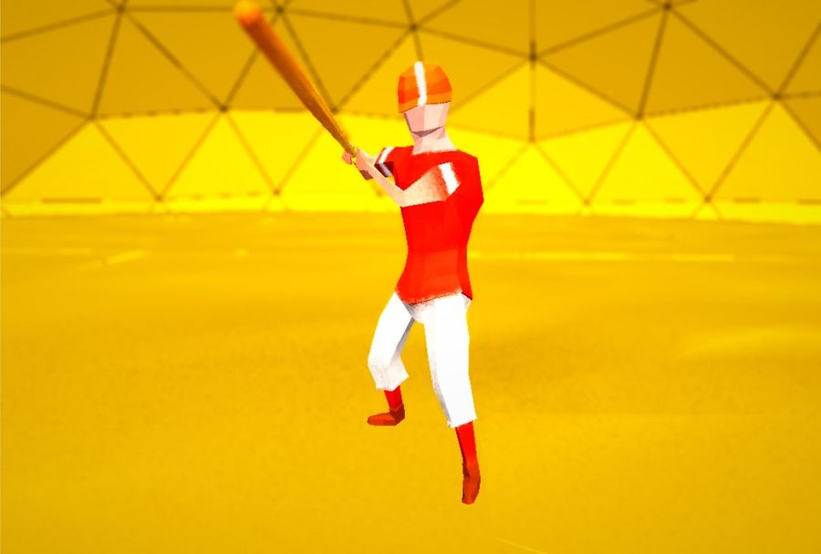 Pack de baseball Low Poly royalty-free 3d model - Preview no. 4