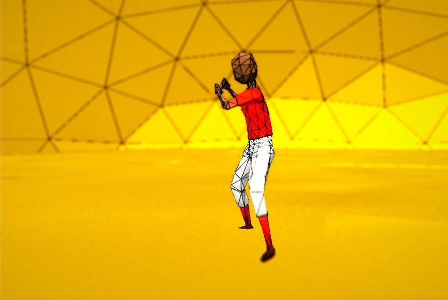 Pack de baseball Low Poly royalty-free 3d model - Preview no. 7