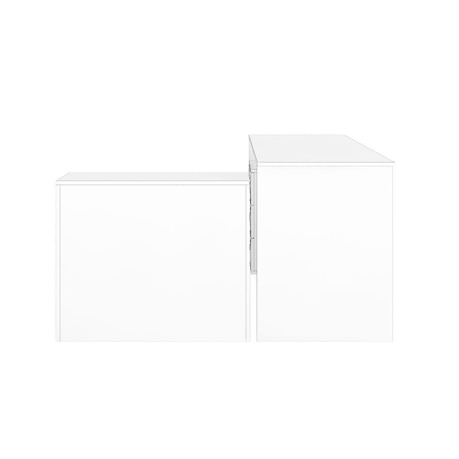 Ofis Dolaplı Çalışma Masası royalty-free 3d model - Preview no. 4