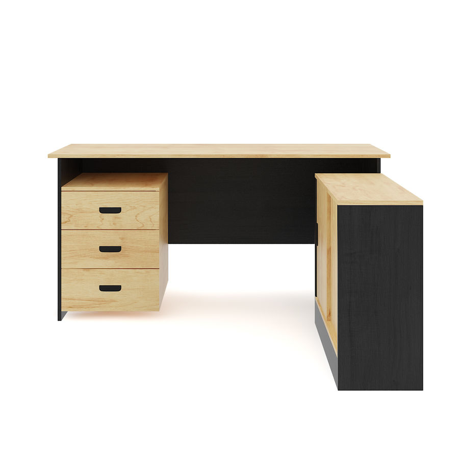 Desk with Office Cabinet royalty-free 3d model - Preview no. 7
