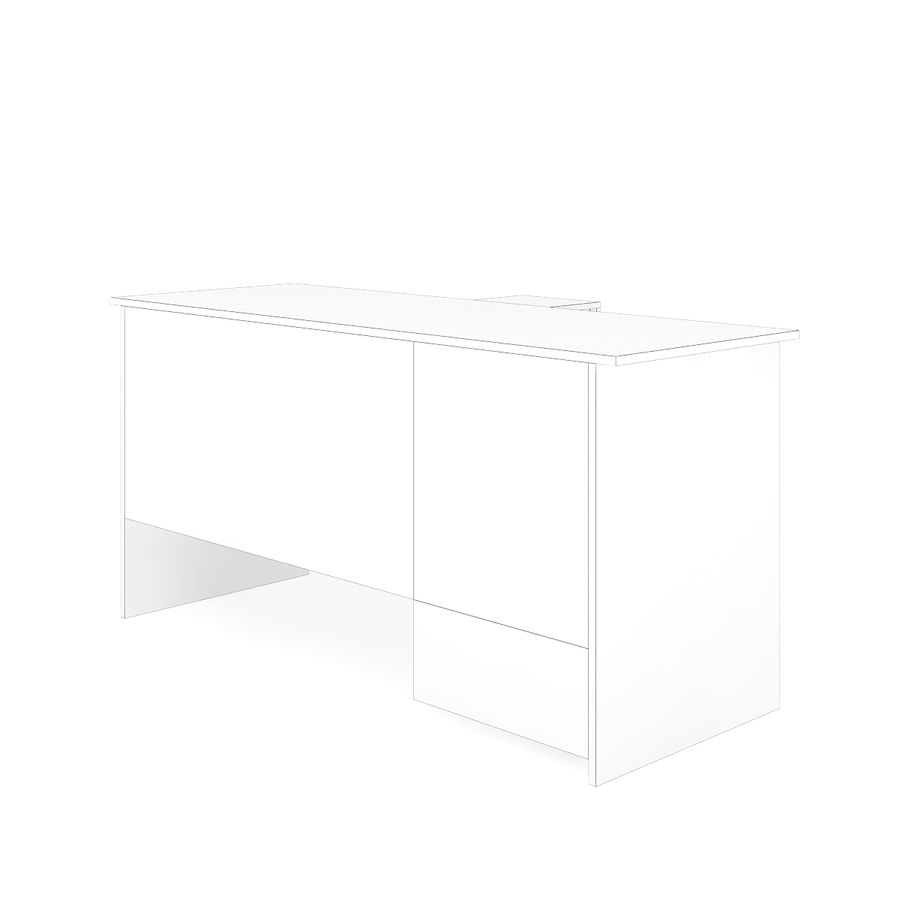 Ofis Dolaplı Çalışma Masası royalty-free 3d model - Preview no. 6