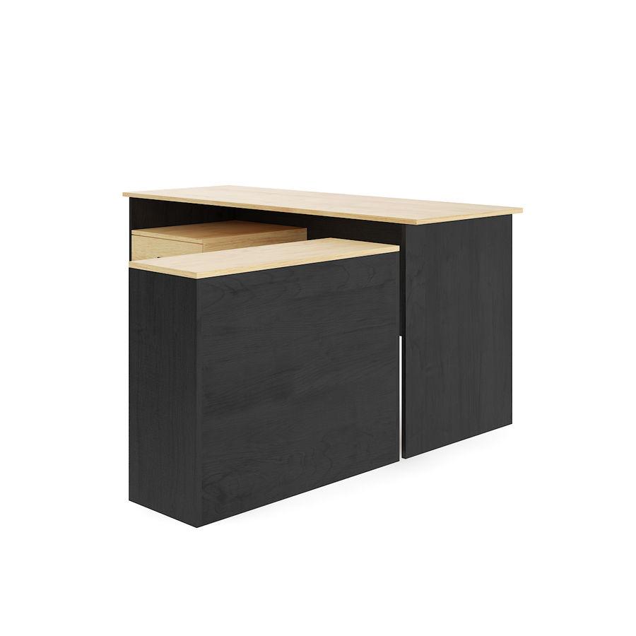 Ofis Dolaplı Çalışma Masası royalty-free 3d model - Preview no. 1