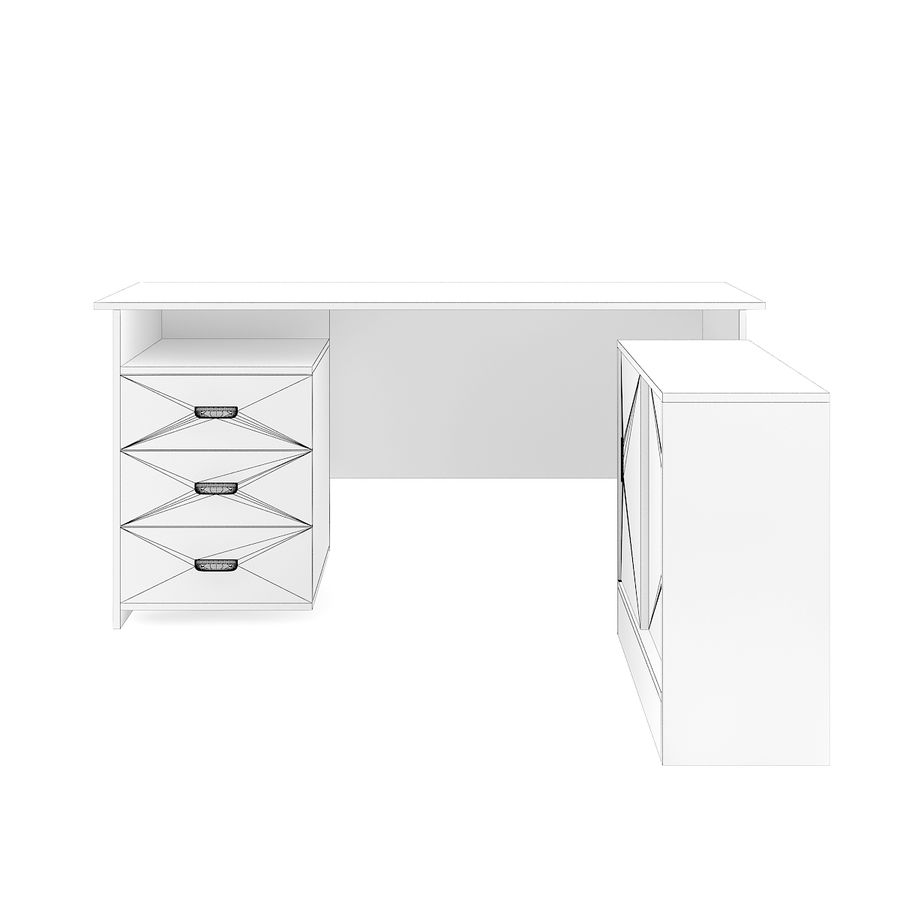 Desk with Office Cabinet royalty-free 3d model - Preview no. 8