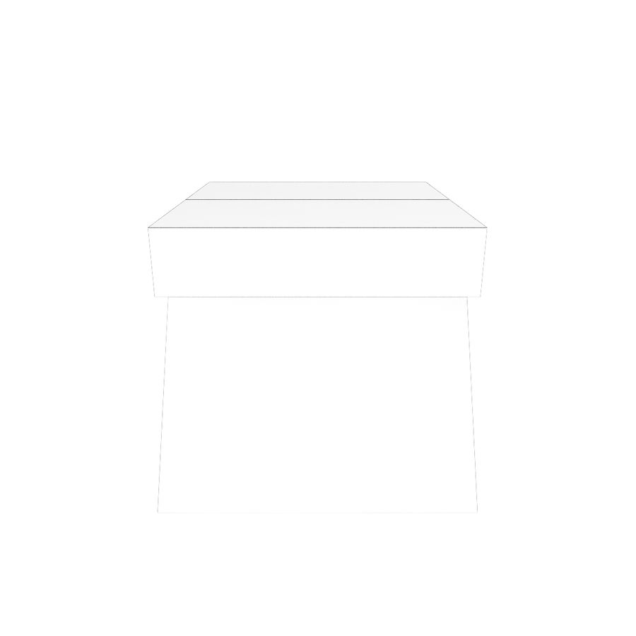 Modern Wooden Desk royalty-free 3d model - Preview no. 4