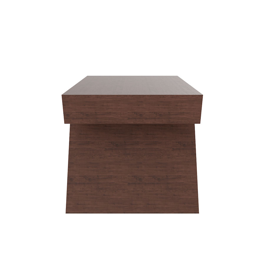 Modern Wooden Desk royalty-free 3d model - Preview no. 3