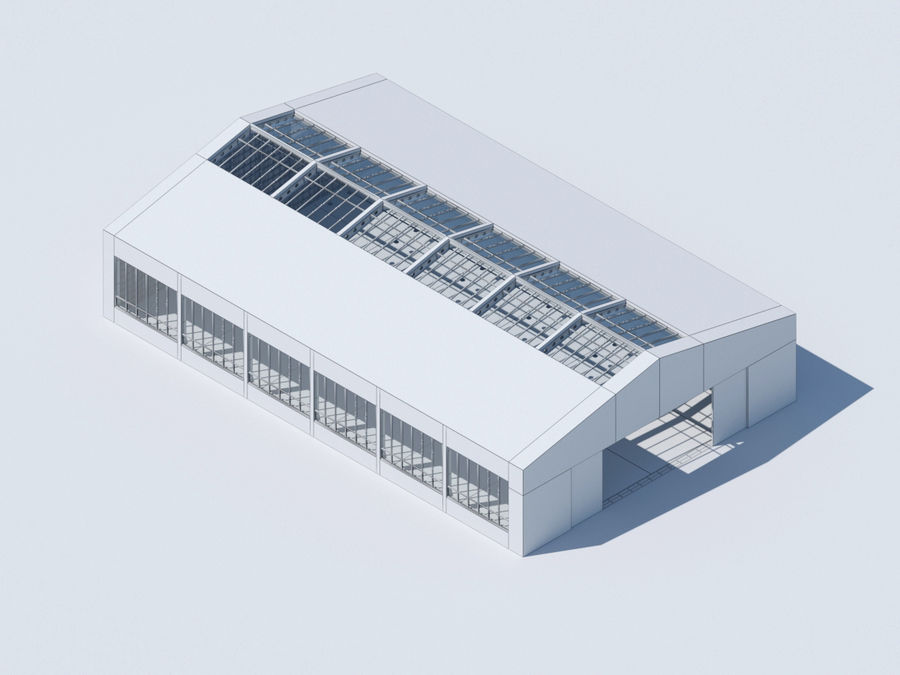Hangar royalty-free 3d model - Preview no. 6