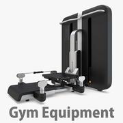 ジム設備-ステップスクワット 3d model