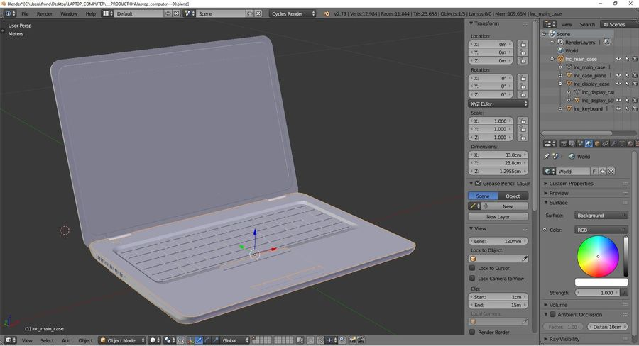 Laptop Computer royalty-free 3d model - Preview no. 9