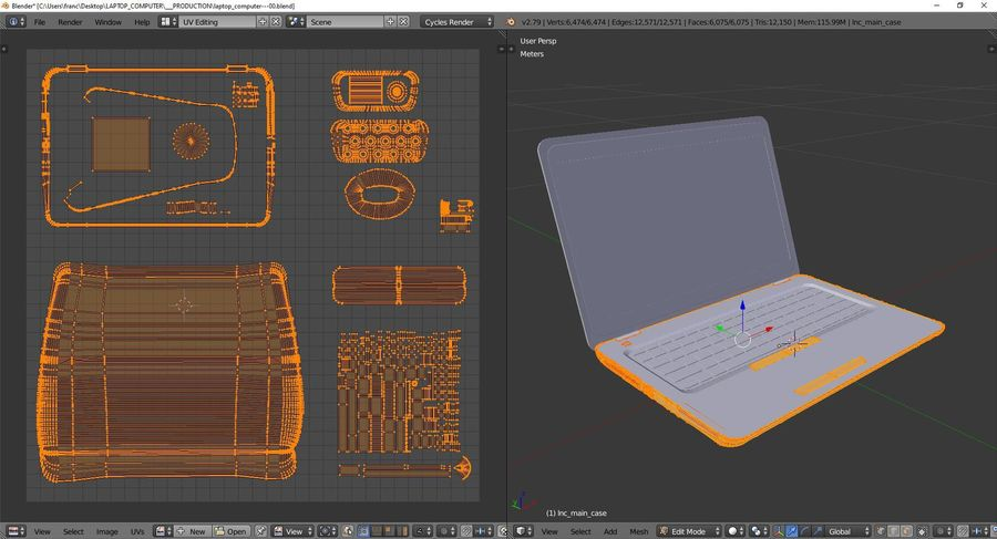 Laptop Computer royalty-free 3d model - Preview no. 10