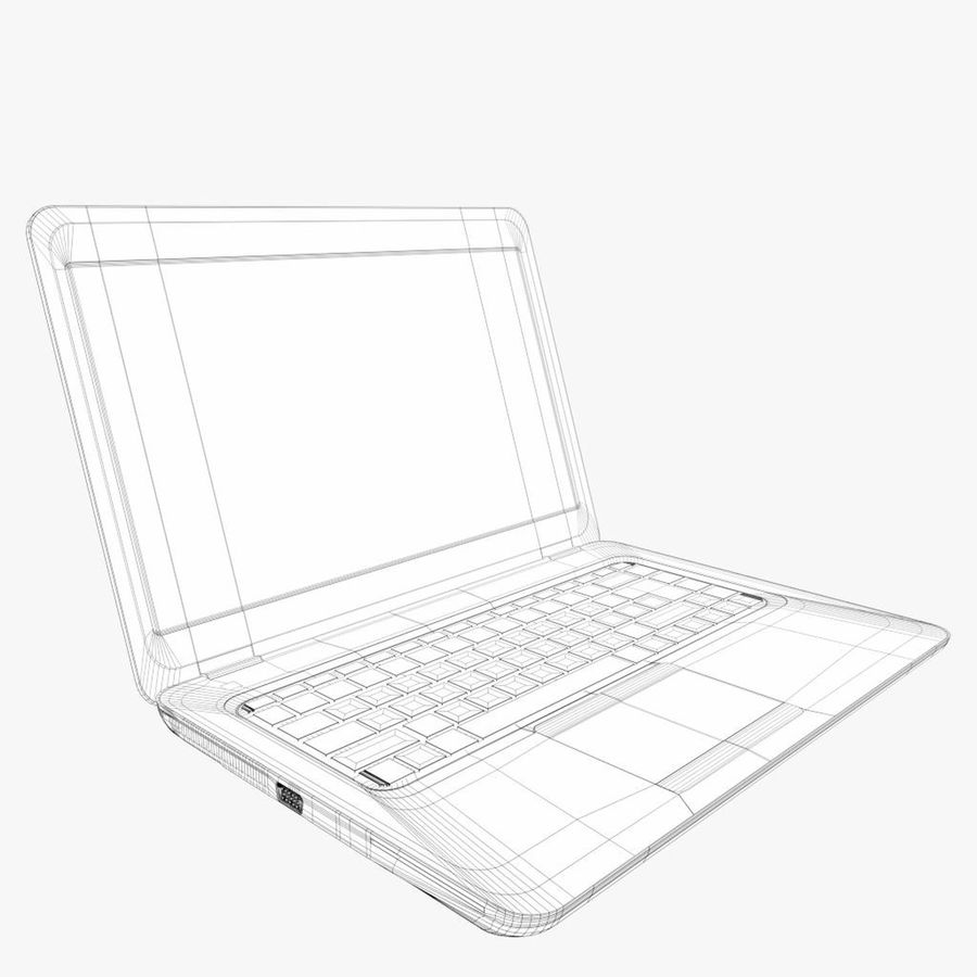 Laptop Computer royalty-free 3d model - Preview no. 7