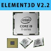 E3D - model procesora Intel Core i9 X-series 3D 3d model