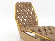 Biknit chaise longue 3d model
