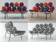 Marshmallow Sofa 3d model