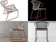 V椅 3d model