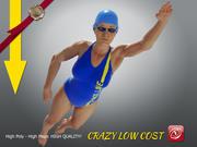 SwimminggirlgirlCCrawl P1 modelo 3d