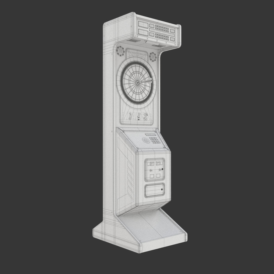 Arcade Dart Oyunu royalty-free 3d model - Preview no. 11