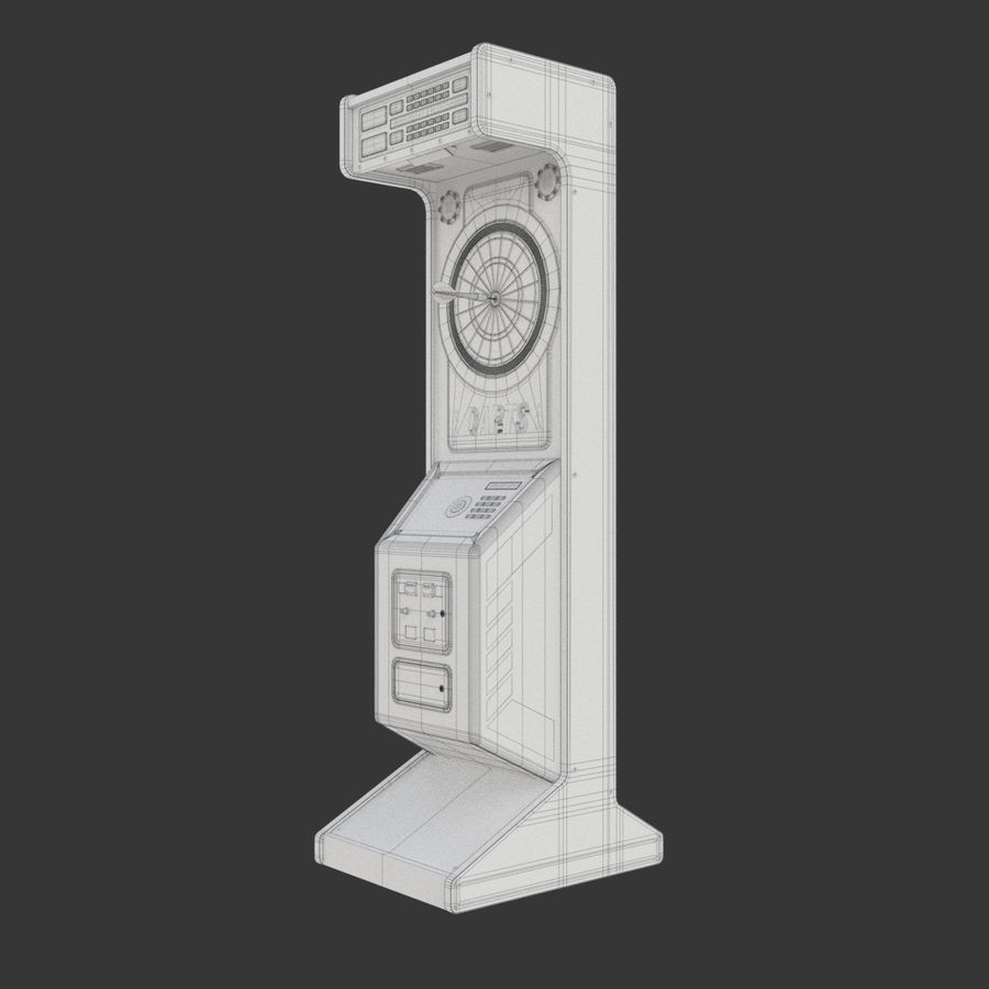 Arcade Dart Oyunu royalty-free 3d model - Preview no. 16