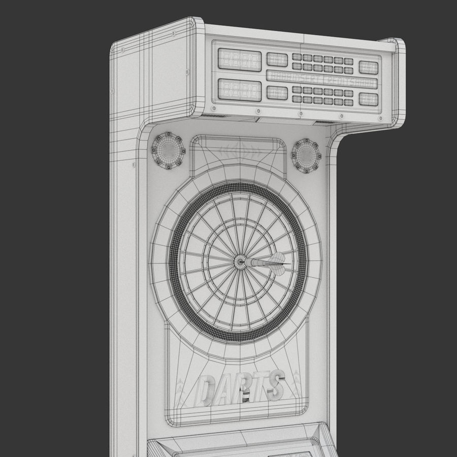 Arcade Dart Oyunu royalty-free 3d model - Preview no. 12