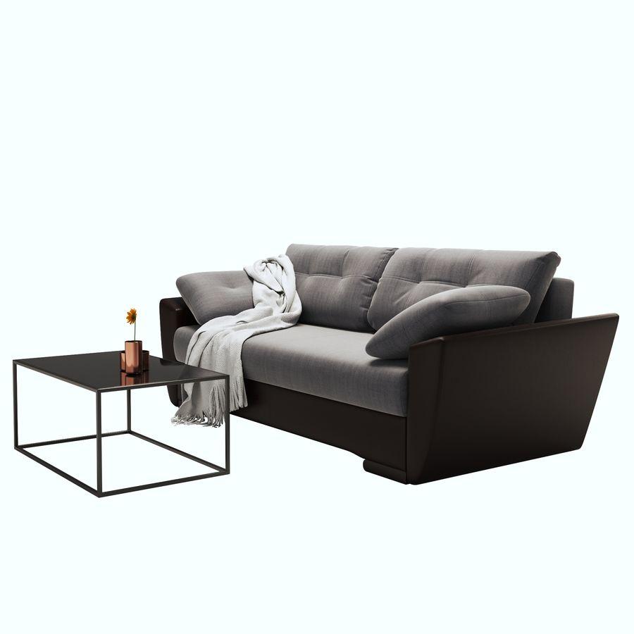 soffa amsterdam royalty-free 3d model - Preview no. 3