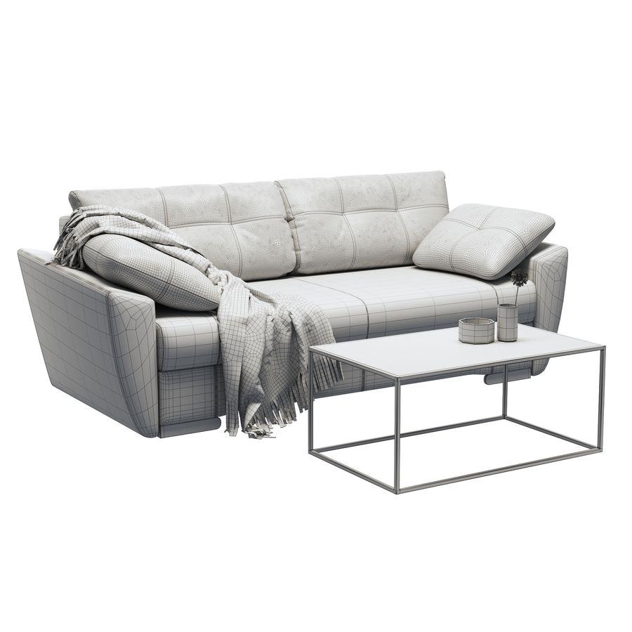 soffa amsterdam royalty-free 3d model - Preview no. 5
