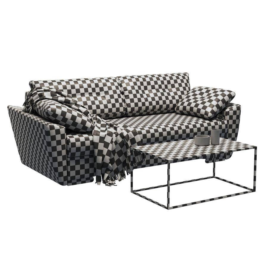 soffa amsterdam royalty-free 3d model - Preview no. 6