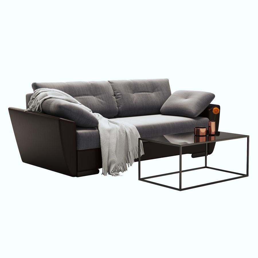 soffa amsterdam royalty-free 3d model - Preview no. 1