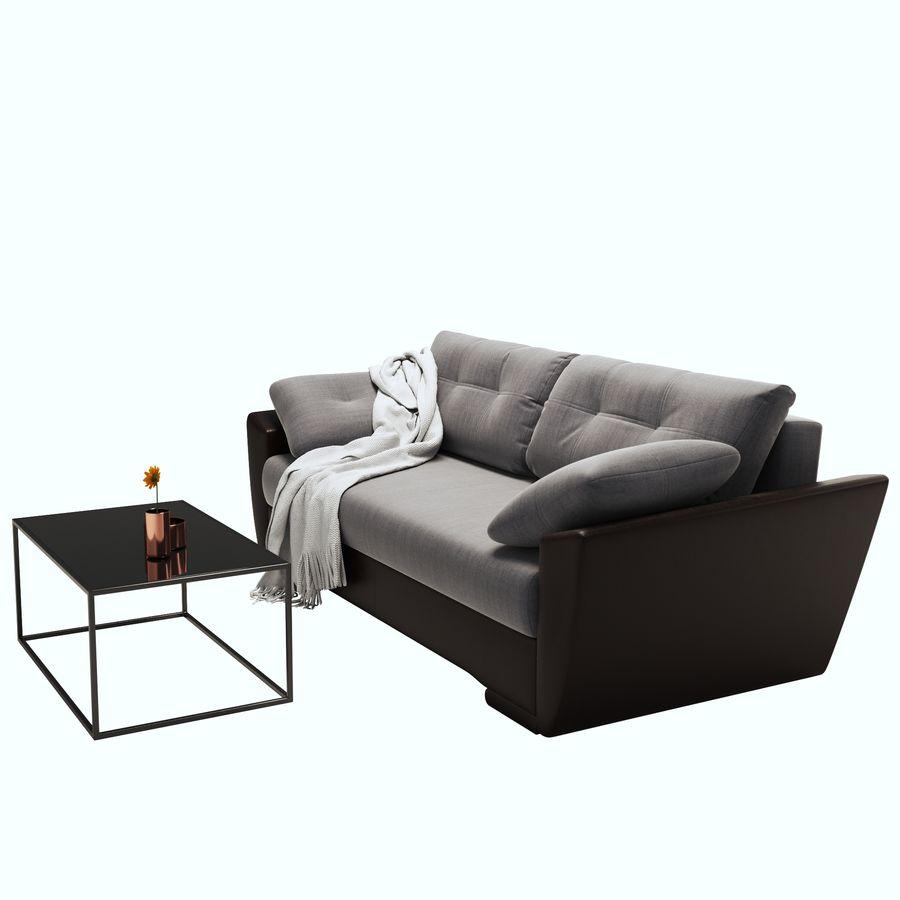 soffa amsterdam royalty-free 3d model - Preview no. 4