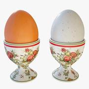Яйца с чашкой 3d model