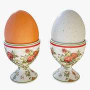 Eggs with Cup 3d model