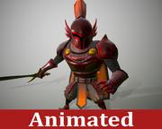 Cartoon Medieval Knight 3d model
