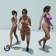 Unreal 4 Female 3d model