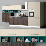 キッチンブリットクレオキッチン 3d model